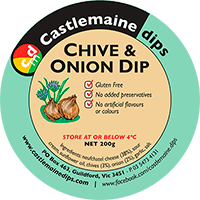 Castlemaine Dips gluten-free vegetarian chive and onion dip