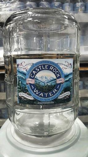 Castle Rock Water three gallon glass