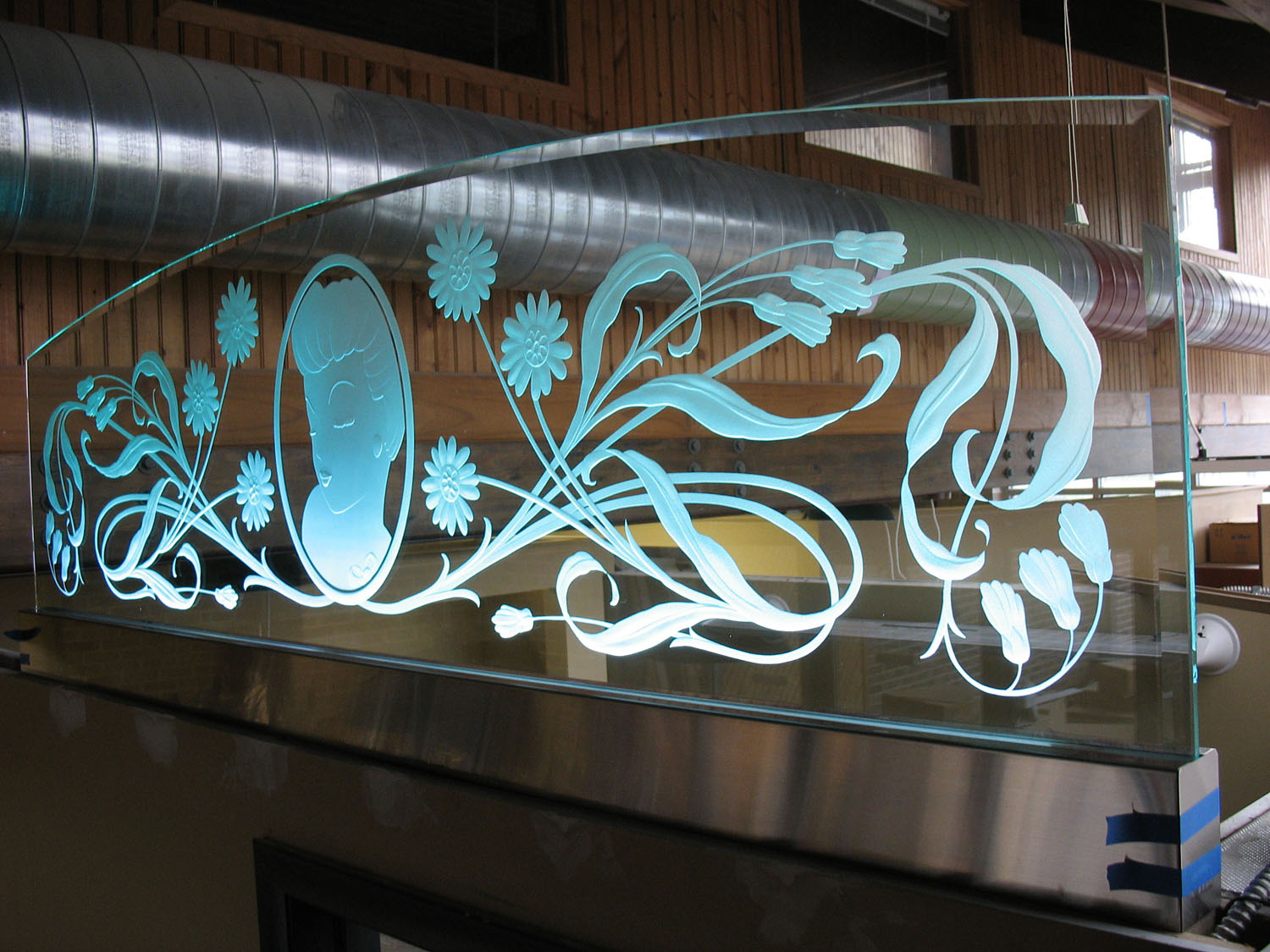 Carved Amp Etched Glass Gallery Castle Studio Stained Glass