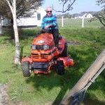 Mick O Shea working hard keeping the grounds