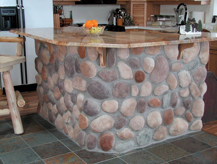 menards kitchen backsplash ikea counter northwoods river rock | manufactured stone for walls ...