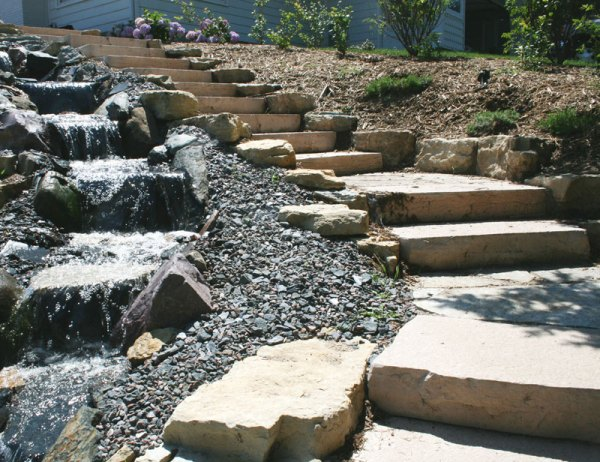 rockstep landscaping step stones