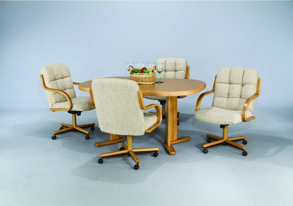 kitchen chairs on rollers steelcase task chair manual san francisco bay area dinettes table sets