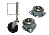 Castors-Adjustable feet-pneumatic wheels-bearings ...