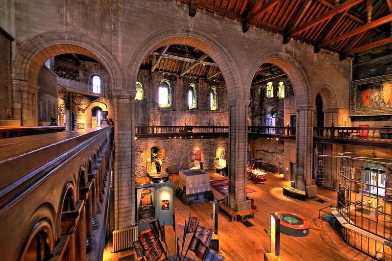 The inside of Norwich Castle