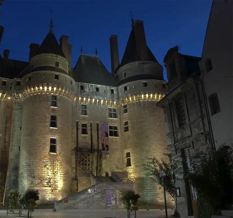 Château de Langeais at night