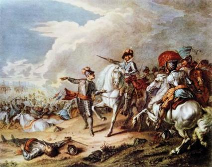 The Battle of Naseby during The English Civil War