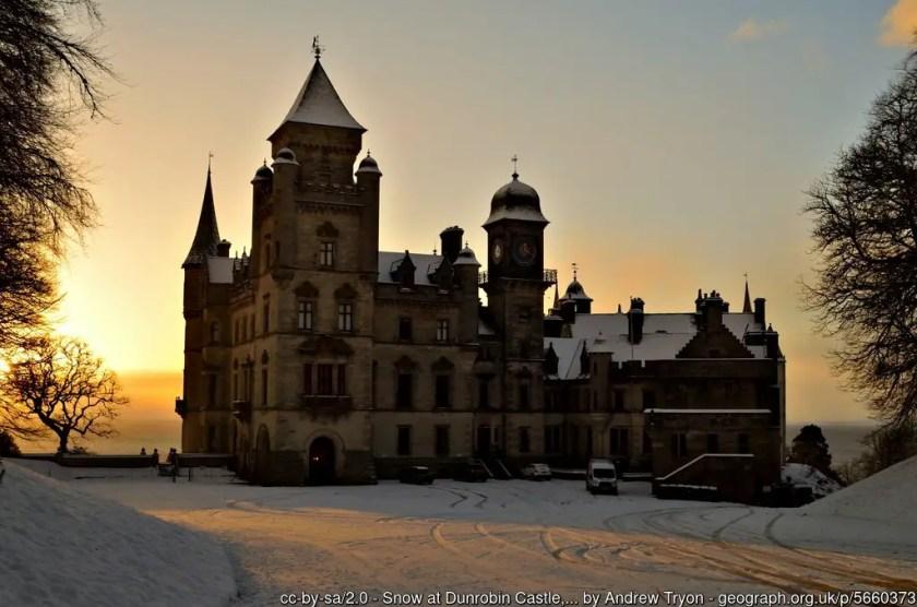 Dunrobin Castle in Winter