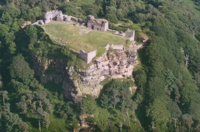 aerial view of Beeston Castle
