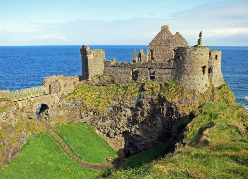 Wide shot of Dunluce Castle
