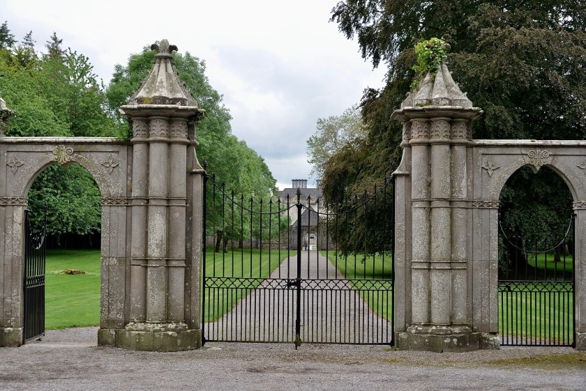 The gated entrance to Portumna Castle