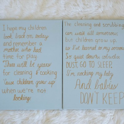 DIY Sweet Nursery Signs and My Mother's Promise