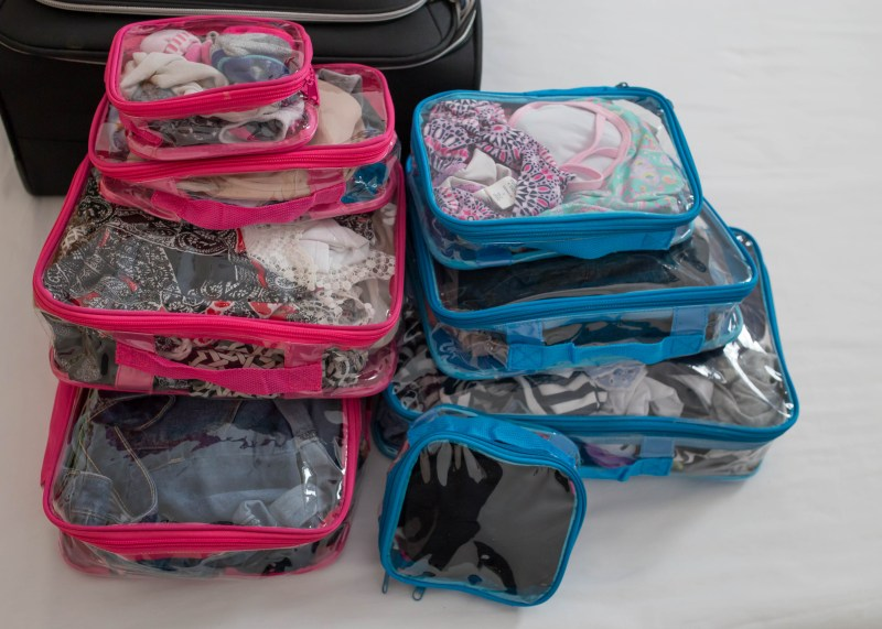 color coded organized packing