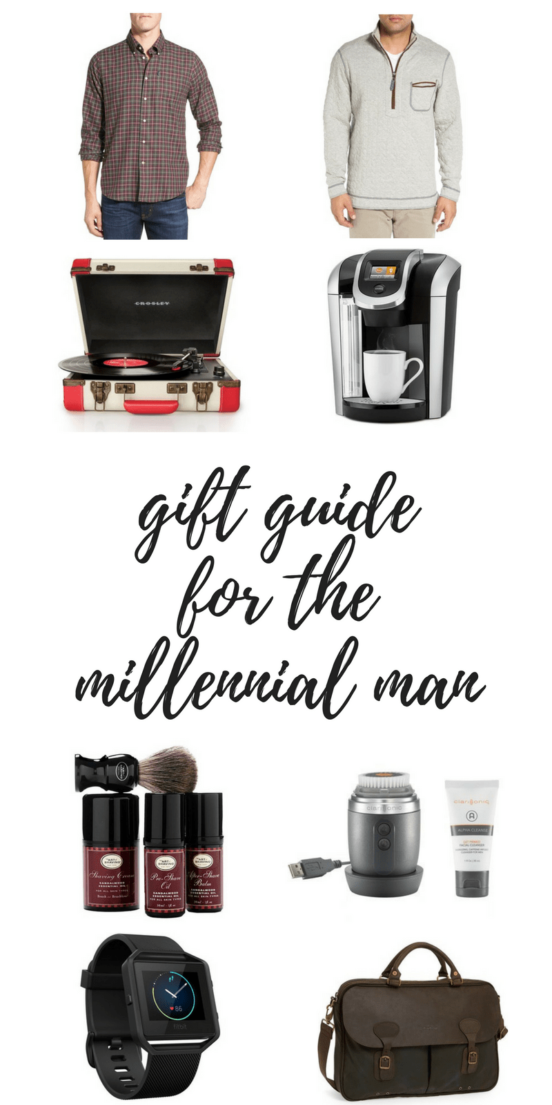 Gift Guide for the Millenial Man! Holidays? Birthday? Graduation? Special event? We've got you covered!