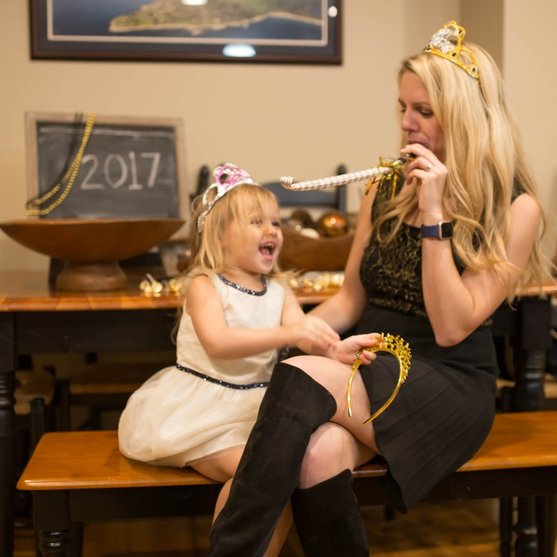 mother daughter new years fun
