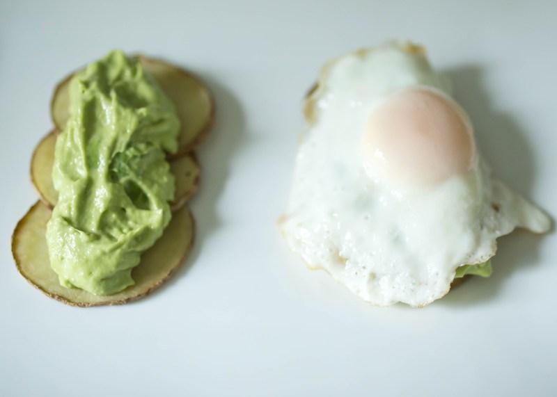 No bread avocado toast
