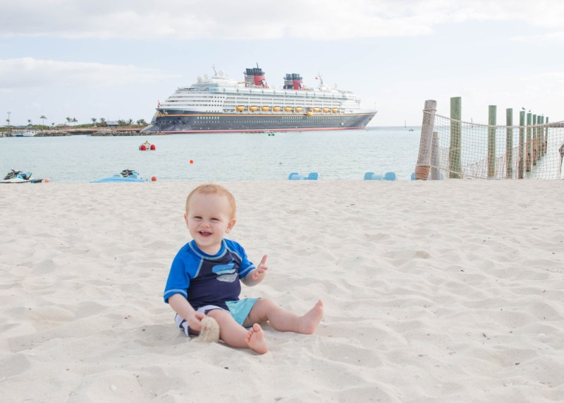 Disney Social Media Moms Celebration 2017: baby boy on castaway cay with disney wonder