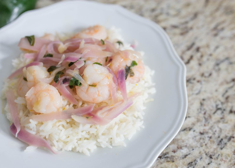a delivious shrimp and rice recipe from HelloFresh