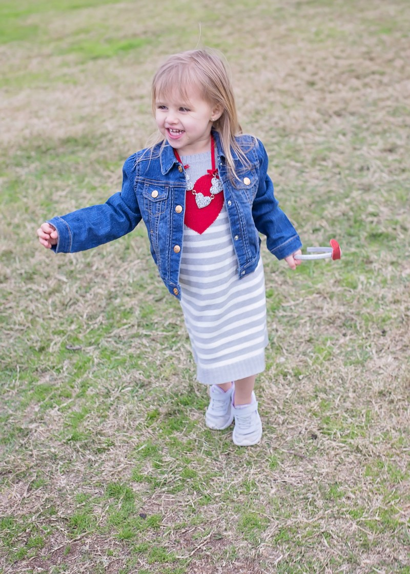 Valentines outfits for children from Crazy 8: cute toddler girl valentine's outfit