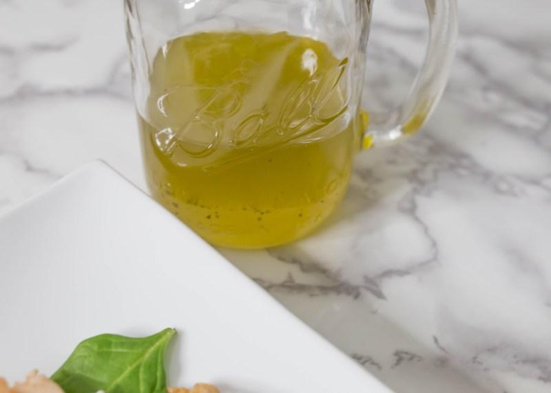 lemon with Zico coconut water vinaigrette recipe