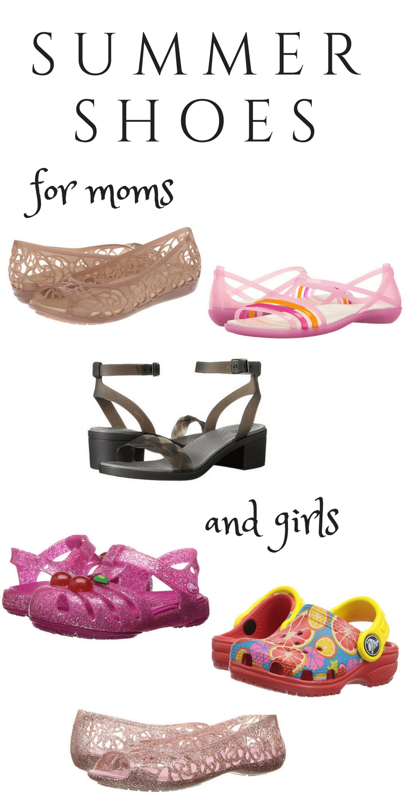 Summer Shoes for Moms and Girls by fashion blogger Casual Claire