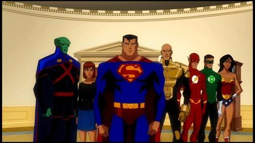 Justice League, Luthor, & Rose-Gotta Snap Sense Into President Slade!