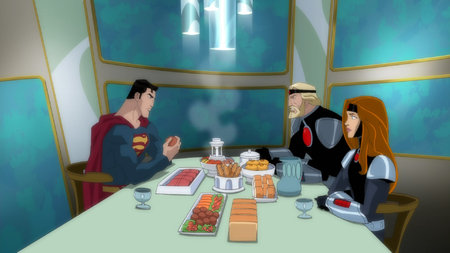 Superman-Dinner With Kara's Parents!