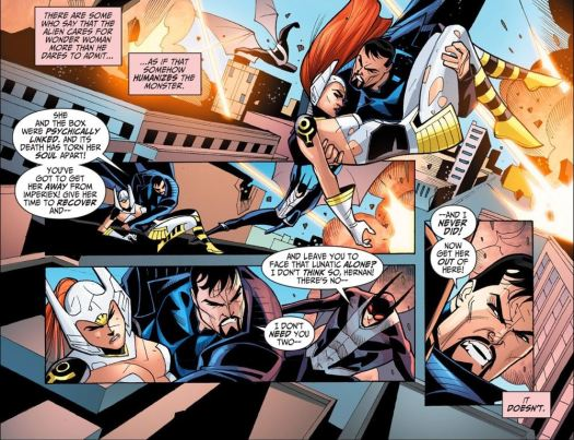 Justice League-Gods & Monsters No. 3-Get Becca To Safety!