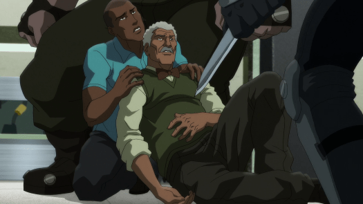 Lucius Fox-Left On Death's Doorstep By Heretic!