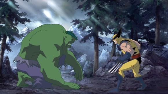 Hulk vs. Wolverine!