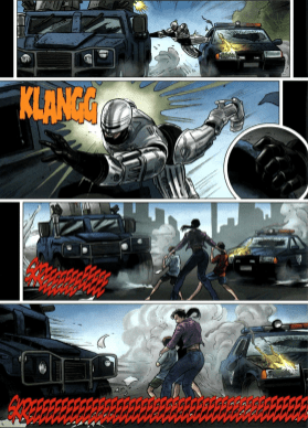 Dynamite's RoboCop #1-That Was Close!