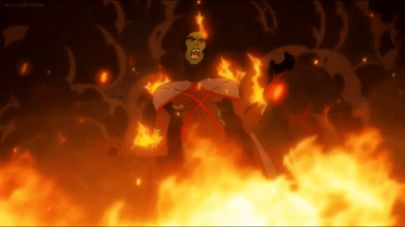 Martian Manhunter-Going Down In Flames!