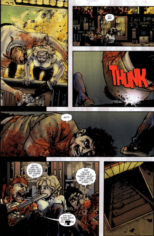 Shaun Of The Dead #4-Fleeing Under Fire!