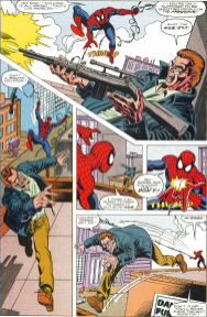 NFL SuperPro #1-Spidey Takes The Shot!