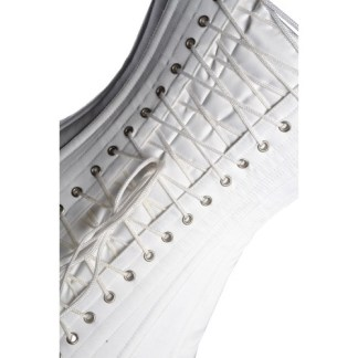 White Leather Corset Cardigans for Women
