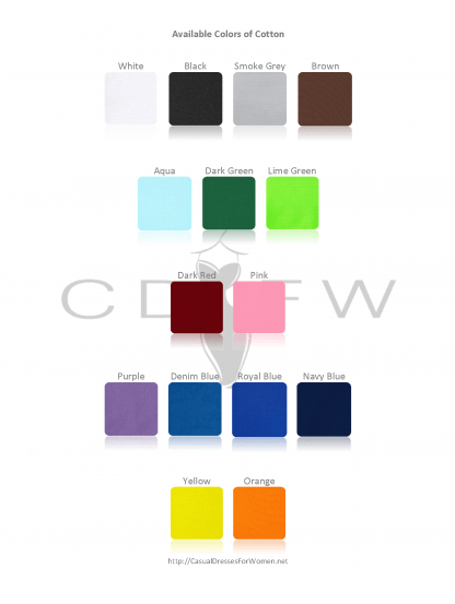 CDFW Cotton Color Chart of casualdressesforwomen.net