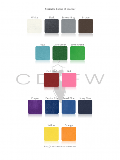 CDFW Leather Color Chart of casualdressesforwomen.net