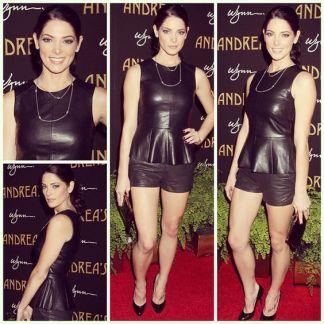 Ashley Greene Black Short Shorts