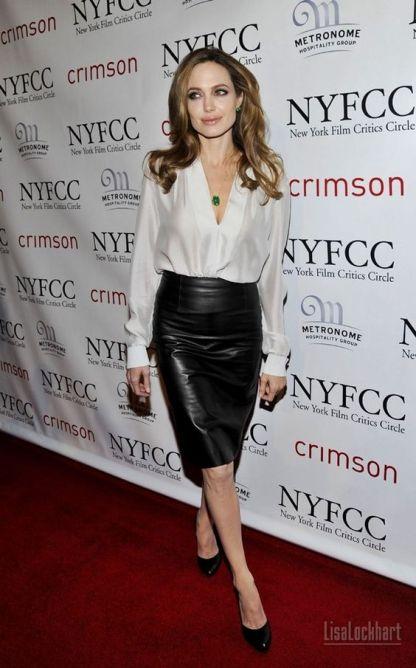 Leather Skirt of Angelina Jolie
