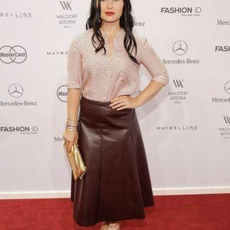 Leather Skirt of Anna Fsicher