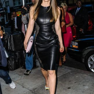 Leather Skirt of Jessica Biel