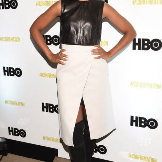Original Leather Blouse Top Dress of Kerry Washington