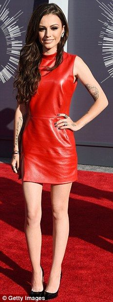 Original Leather Red Skirt of Cher Lloyd