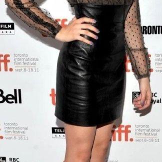 Sexy Leather Skirt of Chloe Moretz