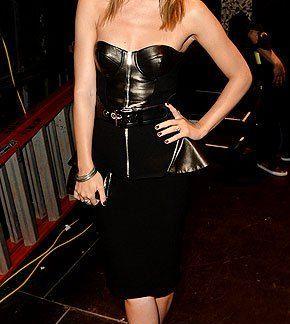 Black Flowy Top Celebrity Dresses