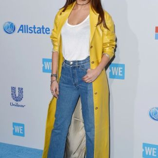 Selena Gomez Down Leather Jacket