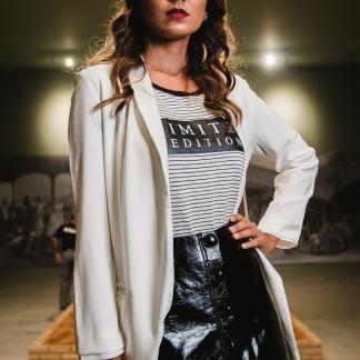 Genuine Leather Black Skirt