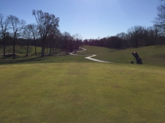 Hole 9 green view