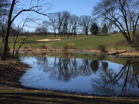 Bunker Hill golf course pond.