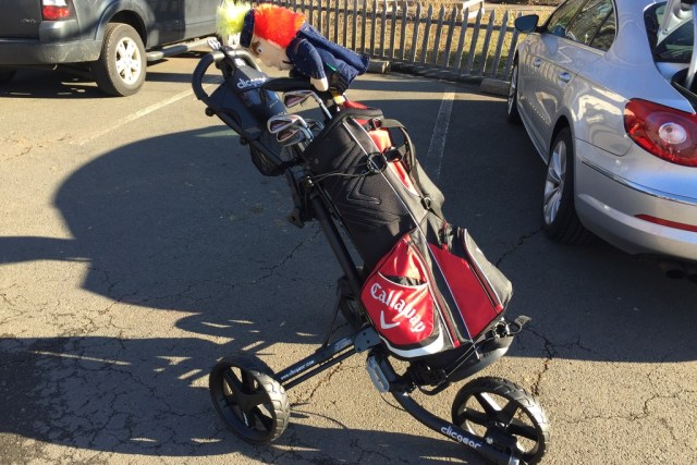 Take Clicgear 3.5+ Push Cart for Stroll